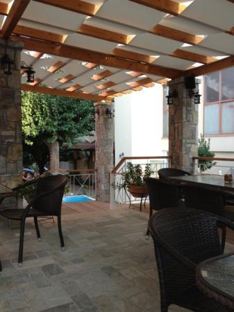 Neda Hotel : Il patio che prelude la piscina