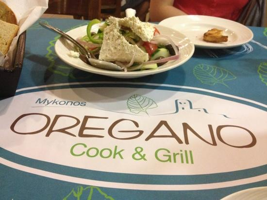 Oregano: nice, fresh Greek salad