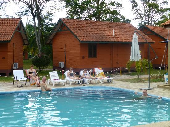 Kuala Selangor, มาเลเซีย: Pool en enkele bungalows
