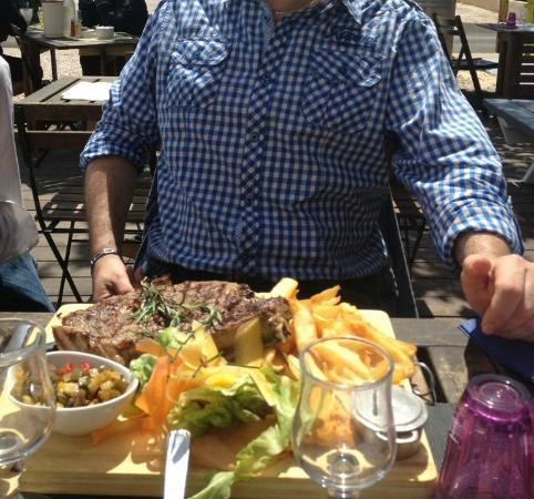 hotel restaurant la bastide: La côte de Boeuf!!!