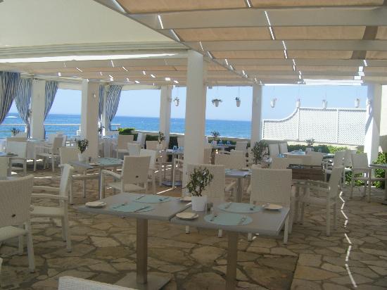 Elias Beach Hotel: bar repas plage