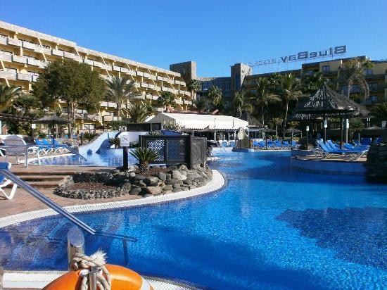 BlueBay Beach Club: view from far side of pool