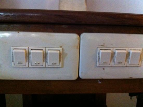 Sahadewa Resort & Spa: interrupteurs dans la chambre