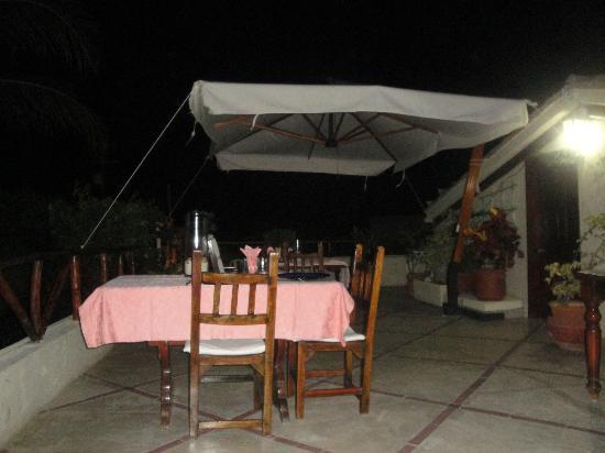 Posada El Pelicano: la terrazza per la cena