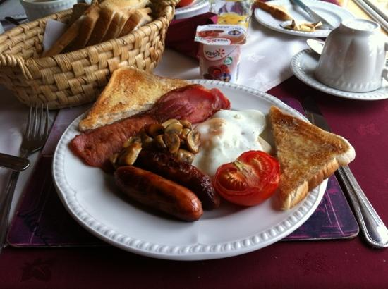 Eas Dun Lodge: Anne's legendary breakfast - crispy bacon!