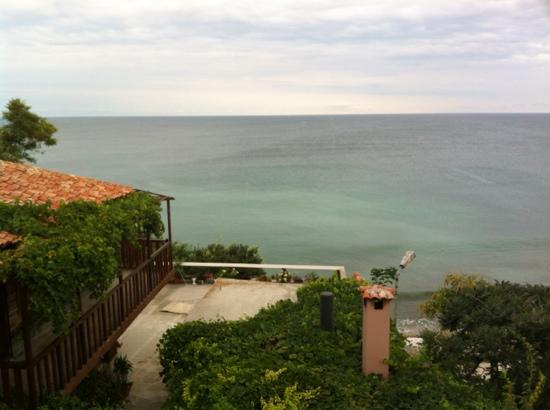 St. Stefan Boutique Hotel  Sunny Beach   BOJ: View from the balcony of the sea-view room.