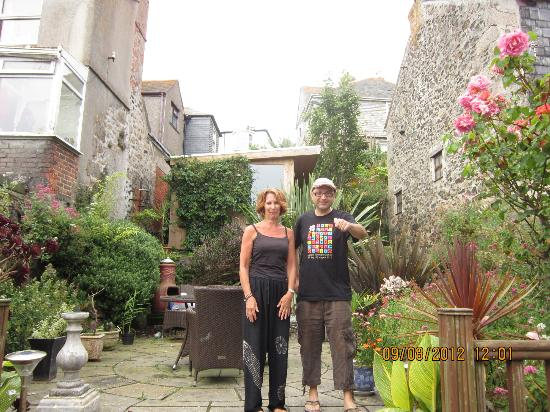 The Keep: In the garden with Carol (owner)