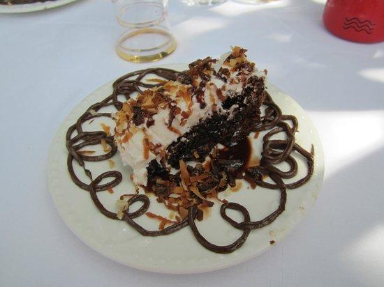 St. Augustine City Walks: Chocolate Fudge Brownie with Coconut Creme