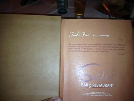 Bar & Restaurant Salü: ausgefallene Speisekarte