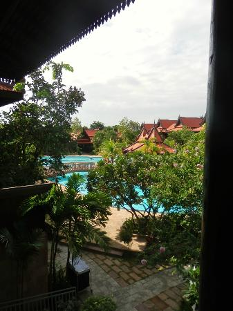 Sokhalay Angkor Villa Resort: view from the balcony/entrance to our room