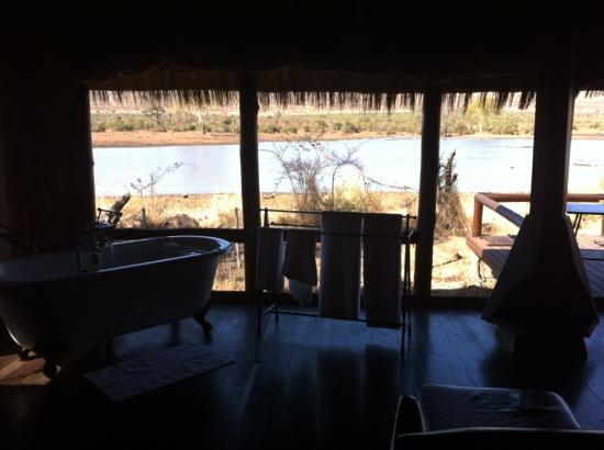 Shishangeni Private Lodge: Camp Shawu - view from room over the lake