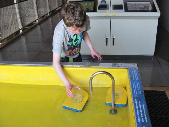 Action Stations: Fill the boat with water and watch which way it goes