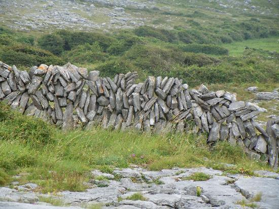 Burren Yoga Retreats: Ancient Limestone walls all the way up the mountains. Interestingly put together!
