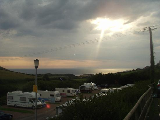Woolacombe Sands Holiday Park: View at sunset