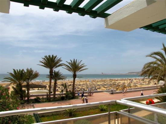 Hotel Agadir Beach Club: view from our room