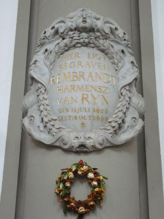 Westerkerk: Rembrandt remembarance plaque
