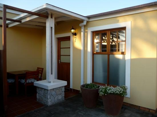 Cornerstone Guesthouse: The outside of our room