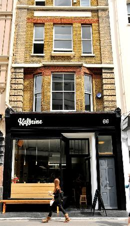 Photo of Cafe Kaffeine at 66 Great Titchfield Street, London W1W 7QJ, United Kingdom