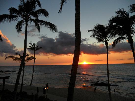 Four Seasons Resort Hualalai: FIRST EVENING SUNSET WOW!!