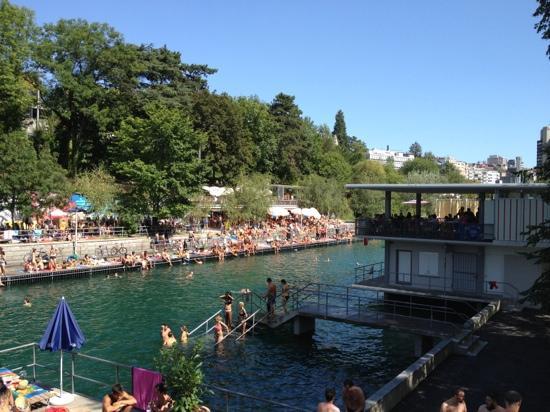 Flussbad Oberer Letten : Badi Letten