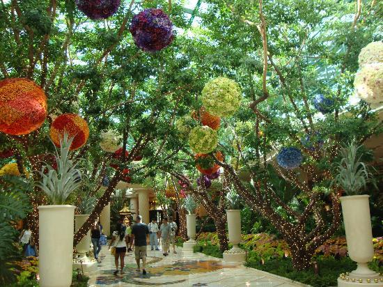 Wynn Las Vegas: jardín en el hall