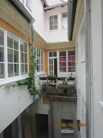 Lotte - The Backpackers: The internal balcony/courtyard which the windows of the living room faced into