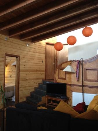 Powder Lodge: One of two living rooms, with stereo and DirecTV.