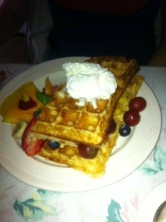 Belgian Waffle, Village Cafe, Blowing Rock, NC