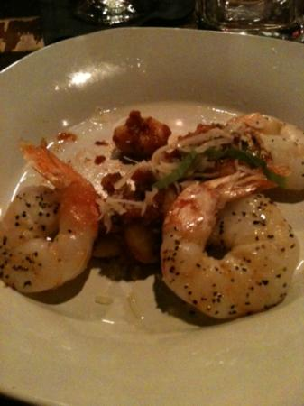 Oliver Twist: shrimp and gnocchi
