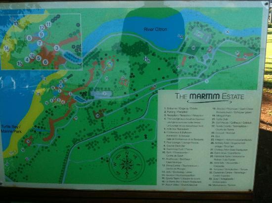 Maritim Beach Resort Map Picture of Maritim Resort Spa Mauritius