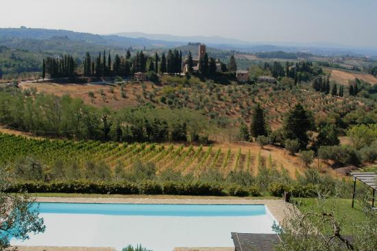 Villa il Pozzo: The villa's pool is normally at the bottom of this photo, but TripAdvisor may have cropped it ou