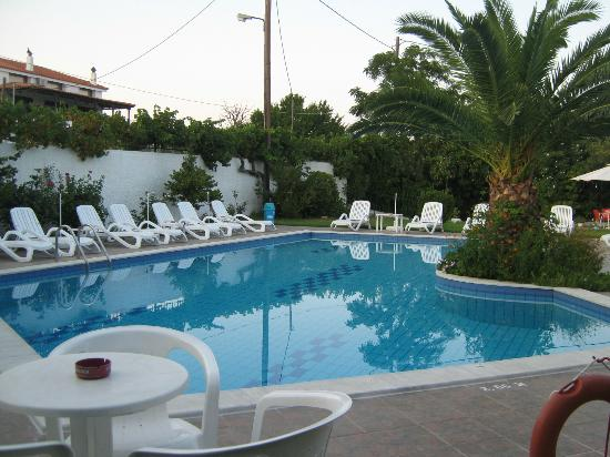 Pool area picture of princess house studios apartments for Princess housse