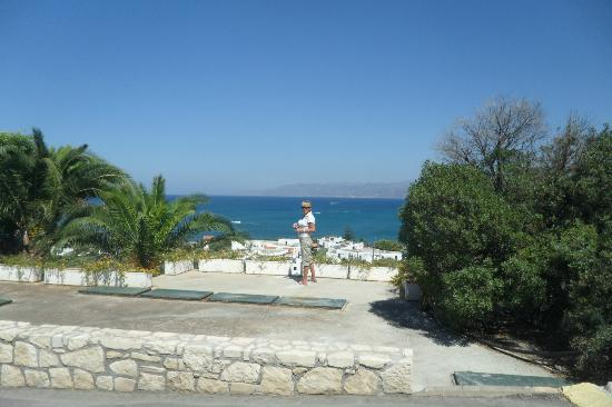 Hersonissos Village Hotel : Une petite photo avant d'aller à la plage