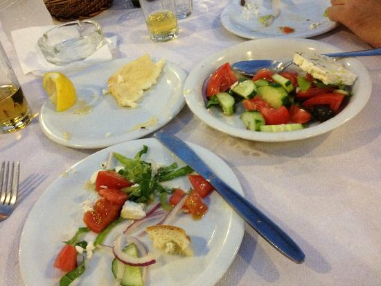Lefteris: Fried cheese and Greek Salad