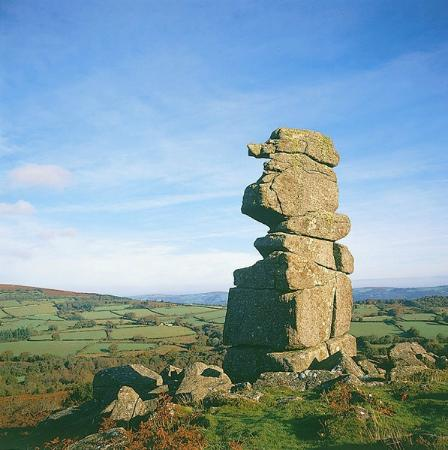 The White Hart Hotel: Bowerman's Nose - a well-known landmark nearby on Dartmoor.
