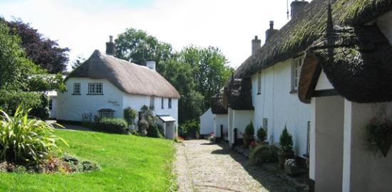 The White Hart Hotel: North Bovey, one of several local picturesque villages nearby on Dartmoor.