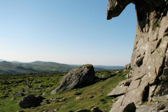 The White Hart Hotel: A view from Hay Tor on Dartmoor.