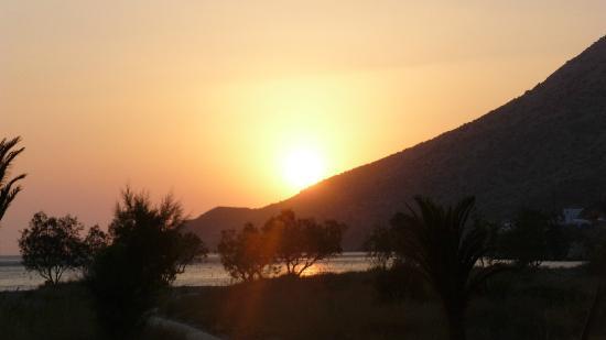 Hotel Afroditi: Vue de la terrasse