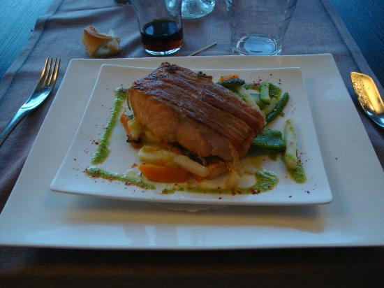 Le Galion : saumon croustillant au lard