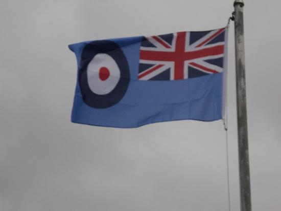 Davidstow Airfield & Cornwall At War Museum : The flag outside the main gate helps you find the place