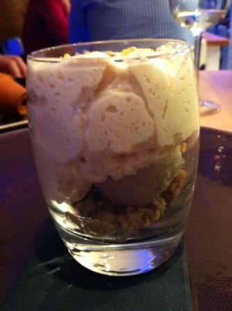 Verveine Fishmarket Restaurant: dessert: sufflè alla banana con gelato alla vaniglia