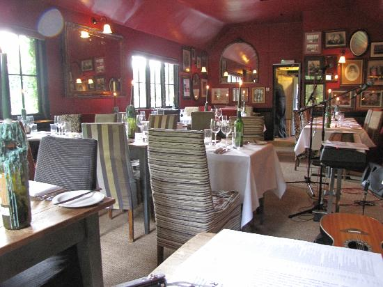 Dining room at the Crooked Billet, Stoke Row, Henley on Thames RG9 5PU