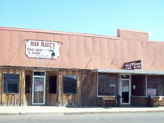 Mad Mary's Steakhouse & Saloon: Open daily at 5:00 p.m.