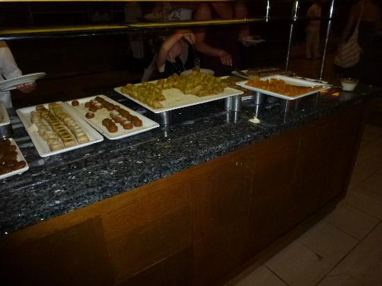 Pegasos Royal: Cake selection in Main resturant