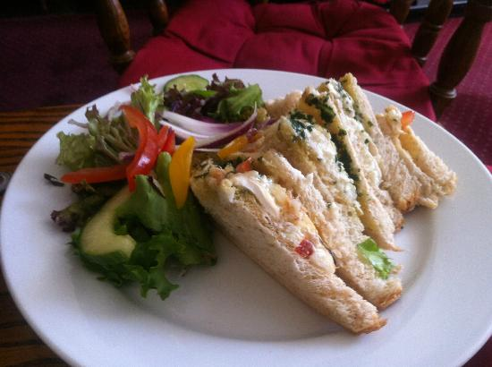 The Hand Hotel: goats cheese sandwich - yum! I've had a nibble here also!