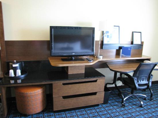 TV Entertainment center work desk Picture of Fairfield