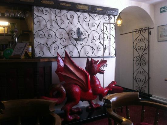 The Hand Hotel: Welsh Dragon in the lounge bar area