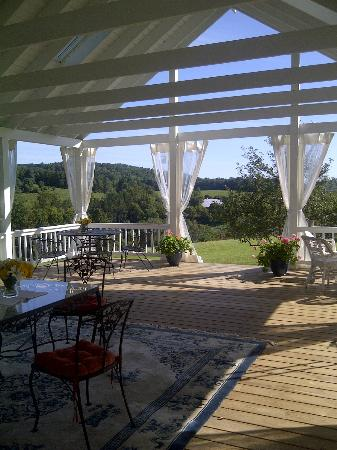 Apple Hill Inn: View from the deck...