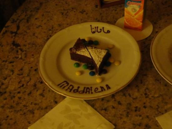 Four Seasons Resort Sharm El Sheikh: a cake for our child upon our arrival