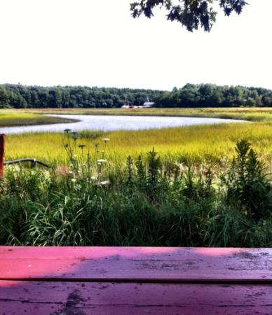 Days Crabmeat and Lobster : View from picnic table.